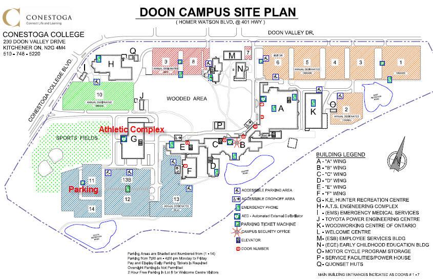 Conestoga College Doon Campus Map Maps   heinbuchclassic.ca Conestoga College Doon Campus Map